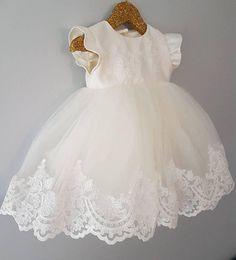 63 ideas for dress princess baby etsy Girls Baptism Dress, Baby Girl Baptism, Baptism Outfit, Girl Christening, Little Girl Dresses, Girls Dresses, Flower Girl Dresses, Trendy Dresses, Nice Dresses
