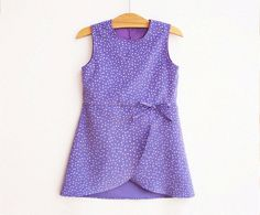 SABRINA Girl Dress sewing pattern Pdf, Easy Simple, Petite Fille Style, children toddler, Girls size 3 4 5 6 7 8 9 10 yrs Instant Download