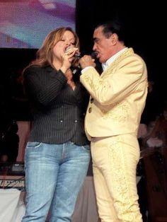 Jenni Rivera y Vicente Fernandez