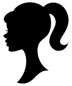 Resultado de imagen para imagenes de barbie princess silueta negra
