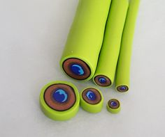 Peacock Cane - from Sculpey ~ Polymer Clay Canes