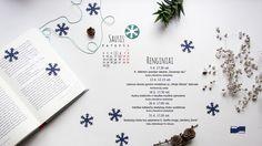 Sausio mėnesio renginių kalendorius