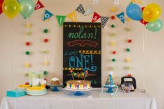 Nolan's Bright and Colorful Birthday. I LOVE IT!!! @Kate Dorsey