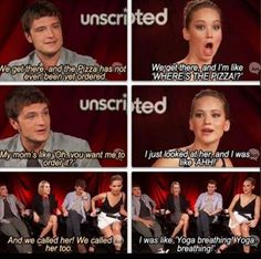 Jennifer Lawrence and Josh Hutcherson have the best friendship or whatever. They're awesome together.