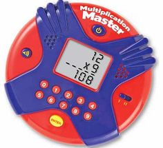 Learning Resources Multiplication Mater Electronic Flash Card Answer as many questions as you can in 60 seconds with this handheld flash card game. Reinforces multiplication fact recall for the 0 - 12 times tables. Size H33. W51.3cm. Batteries required: 3 x AAA  http://www.comparestoreprices.co.uk/educational-toys/learning-resources-multiplication-mater-electronic-flash-card.asp
