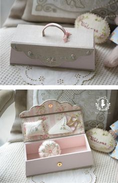 Sweet idea for sewing box! :)
