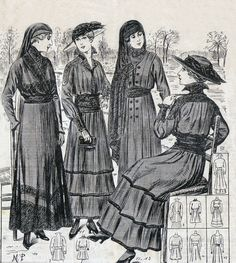 Mourningdresses, Petit echo de la Mode 1915
