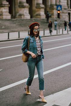 Get this look: http://lb.nu/look/8687297 More looks by Andreea Birsan: http://lb.nu/andreeabirsan Items in this look: Beige Suede Mules, Raw Hem Boyfriend Lightwash Jeans, Breton Stripe Top, Denim Jacket, Raffia Bag, Mirrored Sunglasses, Red Beret #casual #minimal #street #andreeabirsan #couturezilla #bucharest #buchareststreetstyle #andreeabirsanstreetstyle #romanianblog