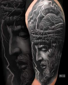 Jesus Cover up2 sessions@fkirons @worldfamousink @kwadron #jesus #jesustattoo #tattoo #coveruptattoo #fkirons #worldfamousink #spektradirekt2 Tribal Tattoos, Tattoos Skull, Black Tattoos, Hip Tattoos, Stomach Tattoos, Celtic Tattoos, Black Tattoo Cover Up, Grey Tattoo, Cover Up Tattoos