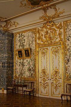 Inside the Catherine Palace, Tsarskoye Selo, Russia.