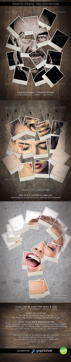 Photo Presentation Frame - Artistic Photo Template PSD. Download here: http://graphicriver.net/item/photo-presentation-frame/246903?s_rank=1295&ref=yinkira