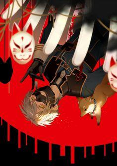 【刀剣乱舞】鳴狐の闇堕ちイラスト【とある審神者】 : とうらぶ速報~刀剣乱舞まとめブログ~