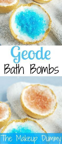 Geode Bath Bombs – THE ORIGINAL RECIPE These look so beautiful! How To make your own DIY Geode inspired Bath Bombs! Tutorial by The Makeup DummyThese look so beautiful! How To make your own DIY Geode inspired Bath Bombs! Tutorial by The Makeup Dummy Pot Mason Diy, Mason Jar Crafts, Homemade Beauty, Homemade Gifts, Homemade Food, Homemade Scrub, Homemade Recipe, Bath Bomb Recipes, Home Made Soap
