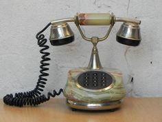 European Jade Marble Antique Style Telephone