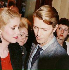 Catherine Deneuve and David Bowie