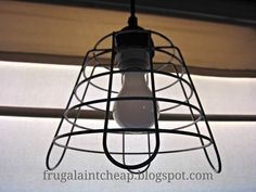 Frugal Ain't Cheap: Wire Basket Light