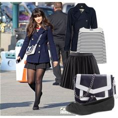 <3 Outfit Recreation Attempt: Zooey Deschanel, created by chicgeek579 on Polyvore