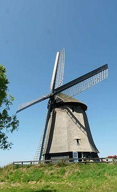 Polder mill Bovenmolen E, Schermerhorn, the Netherlands.