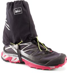 Cut low, the REI Trail Running gaiters keep sticks, stones and dirt out of your shoes when you're on the trail. #REIGifts