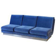 Willy Rizzo Three-Seat Sofa