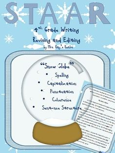 Do your kids get stuck in a snow globe each year?  If they do, this revising and editing passage is for you!