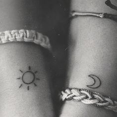 """This would be a cool cousin tattoo for my cousin and I. When we were little we had a """"band"""" called Solar Eclipse, he was the moon, I was the sun"""