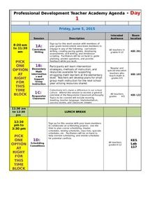 Specials Schedule Template  Template Schedule Templates And Teacher