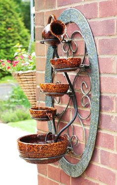 Tortoise Shell Wall Mounted Cascade Water Fountain Feature Garden Yard Outdoor in Home & Garden, Yard, Garden & Outdoor Living, Ponds & Water Features, Outdoor Fountains Outdoor Water Features, Water Features In The Garden, Wall Water Features, Garden Water Fountains, Fountain Garden, Homemade Water Fountains, Fountain Ideas, Outdoor Fountains, Indoor Fountain