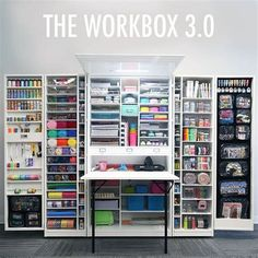 """Collapsible Crafting Closet """"WorkBox 3.0"""" by The Original ScrapBox - Ecosia"""