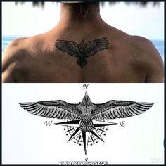 Das beste Tattoo 2 – – Tattoo Skizzen – – diy best tattoo The best tattoo 2 tattoo sketches … Bird Tattoo Men, Hawk Tattoo, Bird Tattoo Back, Bird Tattoos, Compass Tattoo, Finger Tattoos, Body Art Tattoos, Eagle Tattoos, Eagle Neck Tattoo