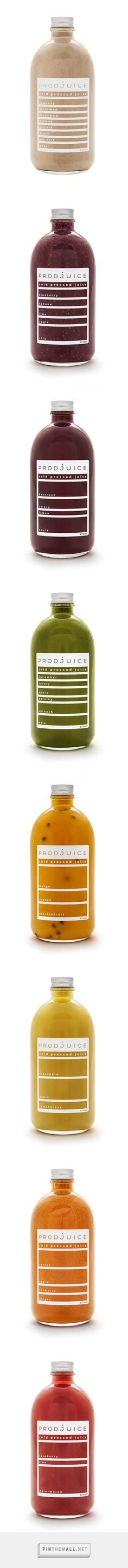 Prodjuice Cold pressed Juice on Packaging of the World - Creative Package Design Gallery... - a grouped images picture - Pin Them All