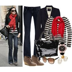 Weekend look: touch of red classic