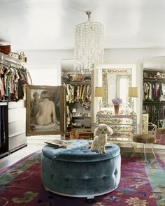 "One of my favorite ""unstructured"" closets..."