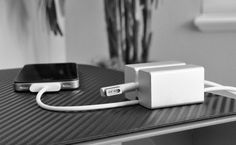 OneLessDrop - an elegant solution to prevent power cords from falling