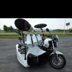 Sidecar Of Drum Set On Harley Machine Music Drummers Solo