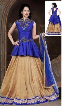 Tan Brown Dupioni Raw Silk Bridal Wedding Readymde Lehengas Choli with Dupatta | FH435268997 #wedding, #bridel, #lehenga, #choli, #sangeet, #merrege, #engage, #ceremony, #fashion, #online, #boutique, #mode, #henna, #heenastyle, @heenastyle , #party, #designer, #treditional, #style