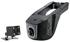 New Universal Hidden Car DVR Camera Digital Video Recorder Novatek 96650  Double lens  1080P Car DVRs WiFi APP Manipulation