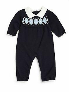 Kissy+Kissy Infant's+Argyle+Knit+Playsuit