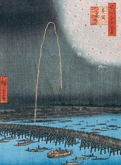 Hiroshige, fireworks