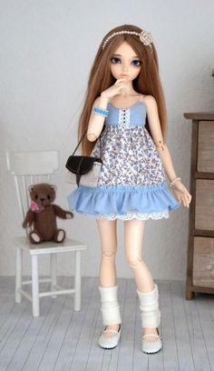 Dress for bjd slim MSD Minifee/iplehouse kid by Karapisdiza