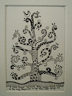 Tree tangle (9x13 cm) | the quote is from Willa Cather | Flickr