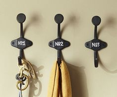 pottery barn schoolhouse numbered hooks 7th house on the left