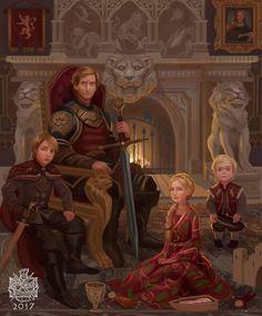 The Lannister family portrait circa 275 AC by raymondwaskita : gameofthrones Jamie Lannister, Lannister Family, Cersei Lannister, Daenerys Targaryen, Dessin Game Of Thrones, Arte Game Of Thrones, Manga Comics, Geeks, Character Art