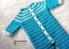 Ravelry: Snug As A Bug Baby Onesie pattern by Maria Bittner Crochet Baby Pants, Crochet For Boys, Free Crochet, Double Crochet, Single Crochet, Crochet Baby Clothes Boy, Crochet Toddler, Blanket Crochet, Crochet Afghans