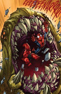 Red Hulk and Spider-Man by Joe Madureira