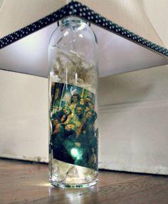 DIY Wine Bottle Photo Lamp | After Nine To Five