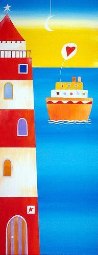 have a nice day! | cm 27 x 70 venduto - sold di questo dipin… | Flickr