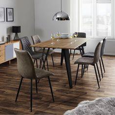 Esstisch in Natur und Schwarz jetzt online kaufen Teak, Dining Table, Furniture, Home Decor, New Furniture, Dinner Room, Dinning Table, Drawers, Interior Design