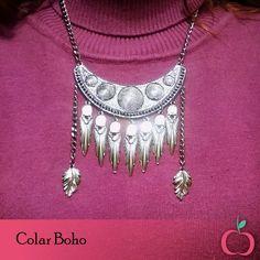Colar Estilo Boho #boho #hippie #colar #étnico #folk #boholuxe #fashion #style #bohostyle #estiloboho #freespirit