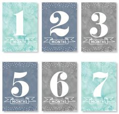 Cloudy // Baby Milestone Cards